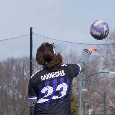 Emerson College Quidditch chaser Anna Dannecker