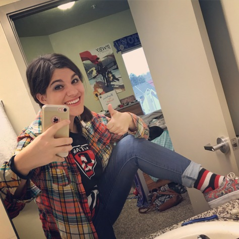 FBI staffer and artist Marissa Hondros showing off her matching socks