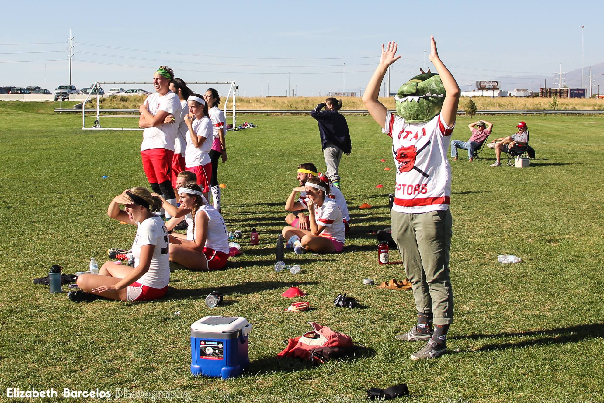 University of Utah Quidditch team. Photo credit: Elizabeth Barcelos Photography.