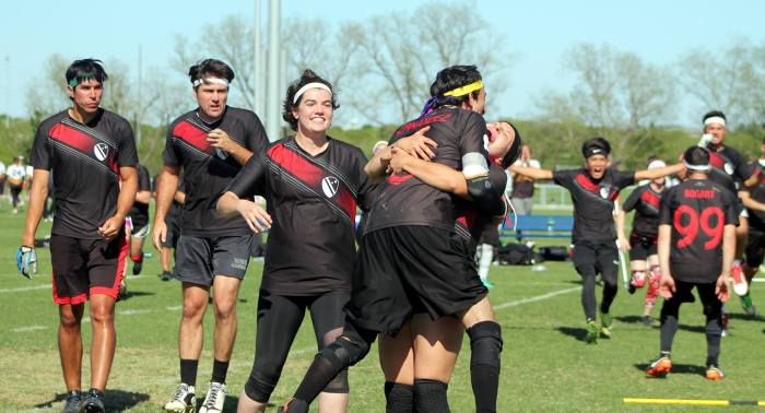 The Lost Boys celebrate after earning a spot in the Final Four at US Cup 11